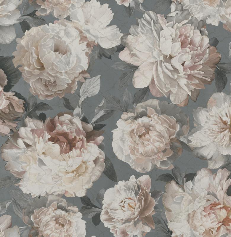 Jaquard Lurex    Peony - Soft Grey