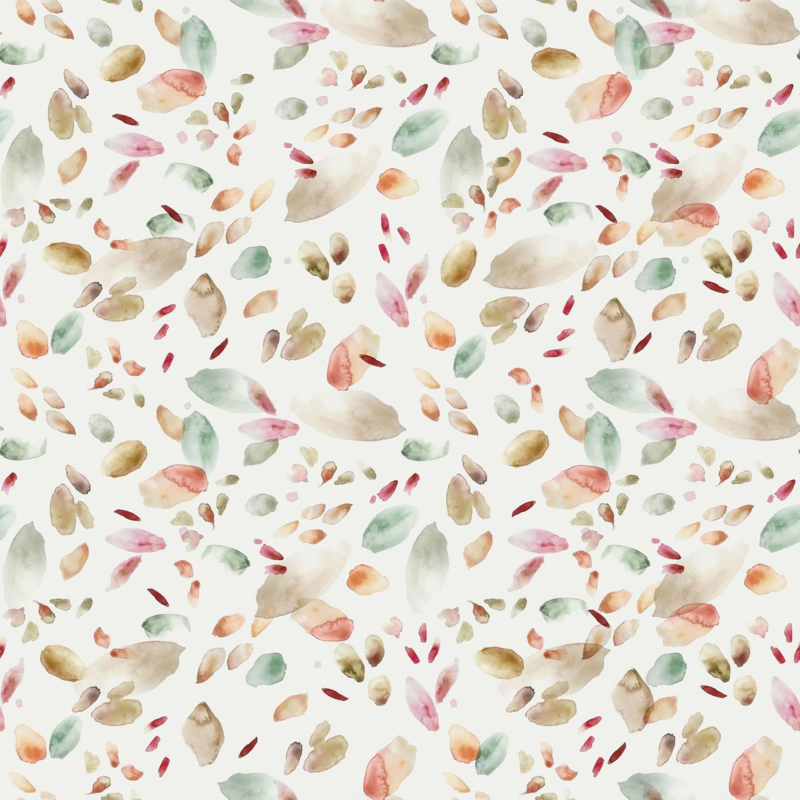 Family Fabrics   Tricot Print   Abstract Leaves