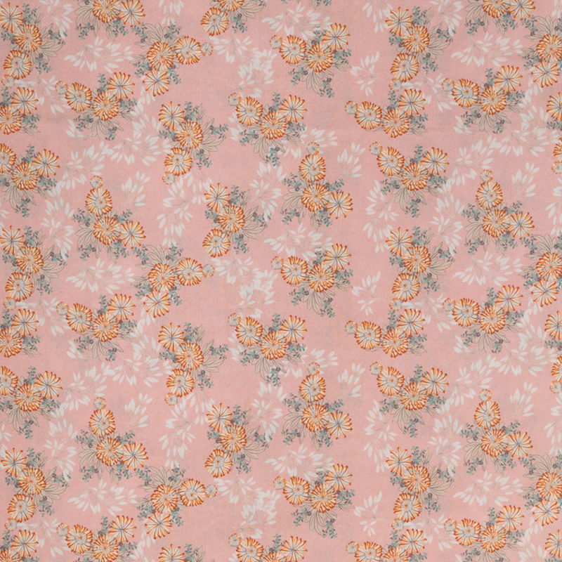 woven viscose   flowers pink   mia   Swafing
