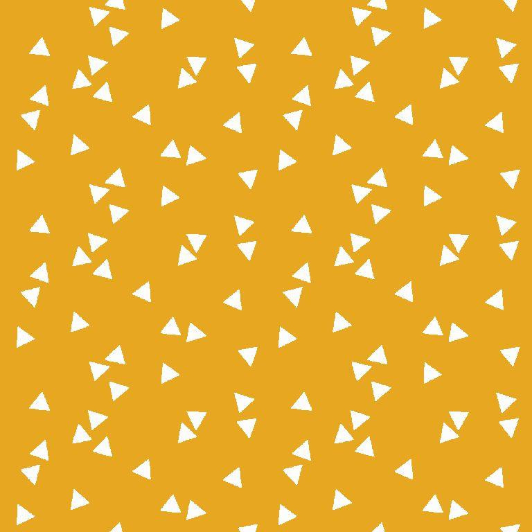 katoen print | triangel | geel