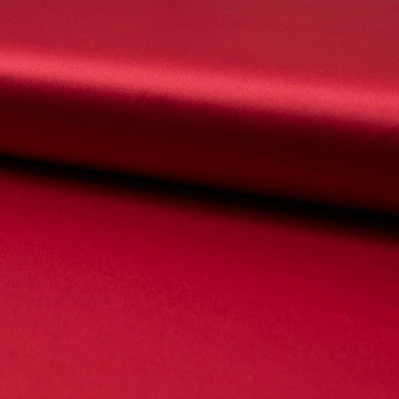 Katoen - Satijn   2% Spandex  - Red
