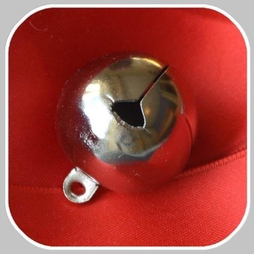 kerstbel  Ø 25mm zilverkleurig