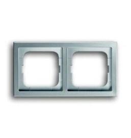 ABB Busch-Jaeger Pure stainless steel - afdekraam 2 voud