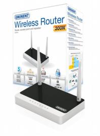 Eminent EM4544 Fast Ethernet Zwart, Wit draadloze router