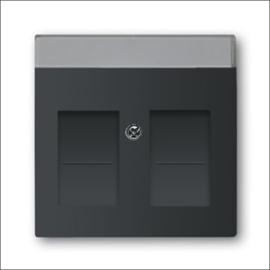 Busch en jaeger Centraalplaat met basiselement voor Modular-Jack