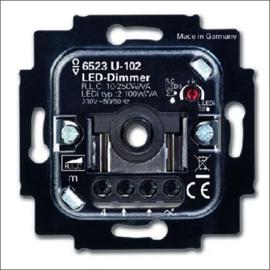 Busch en jaeger Draai/drukknop dimmer, 2-100W, 230V