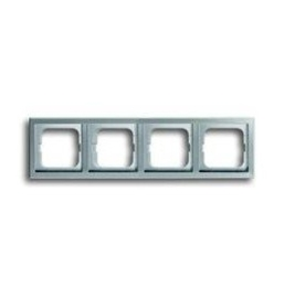 ABB Busch-Jaeger Pure stainless steel - afdekraam 4 voud 1724-866k