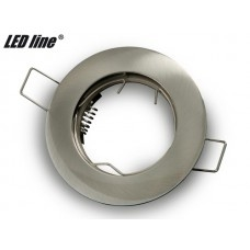 LED line inbouwspot rond vast geborsteld RVS