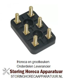 899550413 - Aansluitblok 3-polig draad M5 L 55mm B 36mm