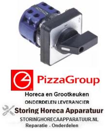4378301310 - Draaischakelaar 2 0-1 contactset 4 type 9A003PL-2V 400V 2A  PIZZA-GROUP