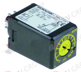 380640 - Tijdrelais TECNOLOGIC RTR12DS60S tijdbereik 60s 230VAC 5A 1CO