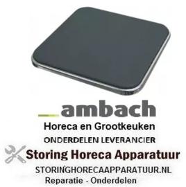 204490073- Kookplaat maat 300 x 300 mm 3000W 400V AMBACH