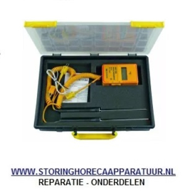 ST1800117 - Temperatuurmeterset met temperatuurmeetapparaat draad-, oppervlakte-, insteekvoeler meeteenheid °C