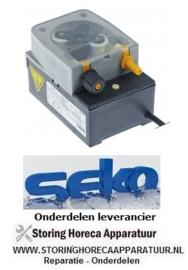 4993.612.50 - Doseerpomp naglansspoelmiddel SEKO met 1 tijdsturing 0,7l/h 230 VAC glansspoelmiddel slang ø 4x6mm slangtype B