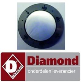 385S73FN55006 - KNOP VOOR THERMOSTAAT MET T° AANDUIDING DIAMOND E3F/24R, EFP/4R, EFP/6R, EFP/44R, EFP/66R