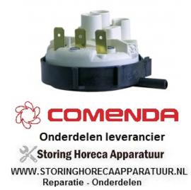 2445.410.23 - Pressostaat drukbereik 190/80mbar aansluiting 6mm ø 58mm drukaansluiting horizontaal spoeltechniek - COMENDA