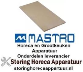 963850112 - Vuurvaststeen L 716mm B 358mm H 19mm voor pizza oven MASTRO