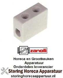 833550593 - Porseleinen kroonsteen 1-polig 4mm voor Zanolli