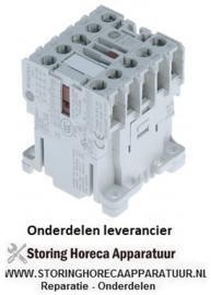 170380840 - Relais AC1 20A 24VAC (AC3/400V) 9A/4kW hoofdcontact 3NO hulpcontact 1NC