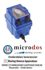 6563.617.48 - Doseerpomp naglansspoelmiddel MICRODOS toerentalregeling 1l/h 230 VAC glansspoelmiddel slang ø 4x6mm