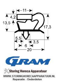 5199048 - Koeldeurrubber op maat 400 x 570 mm GRAM
