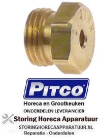 """171109193 - Gasinspuiter draad 5/16"""" UNEF SB 9,5 boring ø 2,44mm PITCO"""