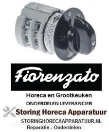 173347187 - Draaischakelaar 3 0-1 drukknop contactset 3 type 400V 12A Fiorenzato-M.C