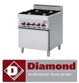 059.612.077.00 - KNOP VOOR OVEN DIAMOND G65/TF7 -ROOD-