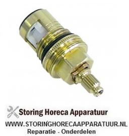 """039540359 - Keramisch kraan binnenwerk adapter opname draad 1/2"""" rotatiehoek 90° koud water Dr.G2: M24x1"""