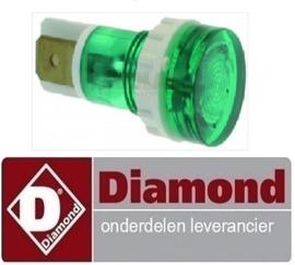 ST9963.012.00 - Signaallamp 230V  groen DIAMOND