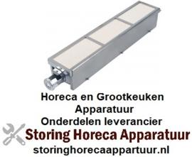 171104757  - Keramischebrander L 415mm - B 80mm brandbereik 395 x 65
