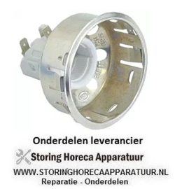 1213.590.22 - Lampfitting fitting E14 inbouw ø 65,5mm aansluiting vlaksteker 6,3mm