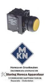 559346489 - Drukschakelaar inbouw ø22mm geel 80-264V voor MKN