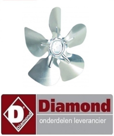 53440701002 - Ventilatorblad zuigend ø 230mm ventilatorblad bevestiging 25,4mm vleugelhoek 28° DIAMOND AR5-TN/PM