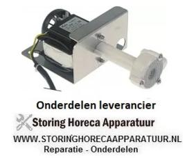 105500596 - Pomp ijsblokjesmachine REBO type NR50, 60W, 230V, 50Hz uitgang ø 17mm, L 110mm rotatierichting links voor ijsblokjesmaker