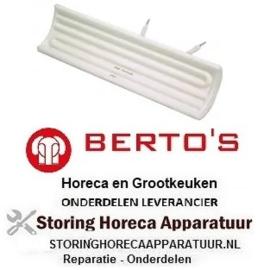 304415103- Keramiekstraler 650W 230V kabel kralenstreng L 245mm BERTOS