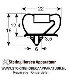 921900012 - Koeldeurrubber profiel 9237 B 645mm L 1535mm steekmaat deur koeltechniek ( Electrolux, Whirlpool, Zanussi )