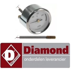 771161827 - Thermometer inbouw t.max. 250°C voor gas friteuse DIAMOND F15+15G/M