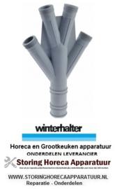 """7493743317 - Waterverdeler inbouwpositie boven ø 50mm L 345mm kunststof draad 1¼"""" WINTERHALTER"""