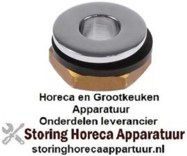 """945540670 - Afvoerventiel draad 1/2"""" RVS H 15mm AD ø 28mm"""