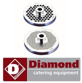 250G845 - Plaatmes gat grote 4.5 mm gehaktmolen DIAMOND TS8