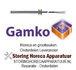 """291417570 - Verwarmingspatroon 110W 230V ø 12mm L 120mm draad 3/8"""" kabellengte 1000mm universeel drankenkoeling  GAMKO"""