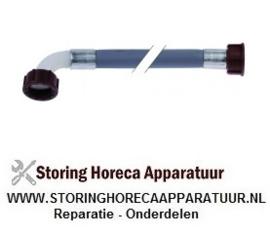 """526520013 - Toevoerslang PVC recht-haaks DN13 aansluitingen 3/4"""" L 3000mm werkdruk 10bar"""