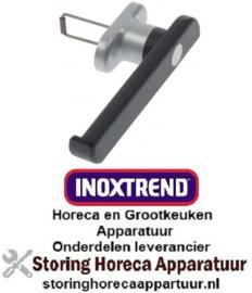 164692898 - Deurgreep voor heteluchtoven L 220mm H 40mm veerlengte 54,5mm zwart kunststof - metaal INOXTREND