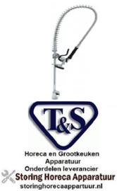 043594029 - T&S Voorspoeldouche met eenhendel eengatsmengkraan zonder zwenkkraan hendelgreep T&S