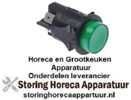 403345161 -Drukschakelaar inbouw ø 25mm groen 2NO 250V 16A verlicht aansluiting vlaksteker 6,3mm