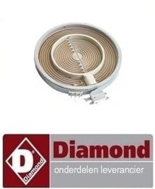 Vitrokeramische fornuis plus  reparatie onderdelen Diamond E60/2VC3T, E60/4VC6T