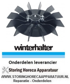 3933102211 - Ventilatorblad ø 142mm asafname ø 15mm messen 12 - waspomp vaatwasser GS 502 WINTERHALTER