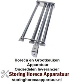 661104580 - Brander staafbrander 3-rijen L 645mm - B 190mm + H 45mm grillplaat
