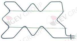 416069 -  Verwarmingselement 4000W 230V L 860mm B 500mm L1 60mm L2 800mm B1 466mm B2 34mm flens L 70mm